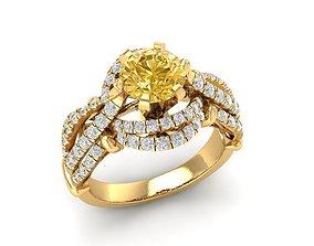 rings 998 Diamond women ring 3D printable model