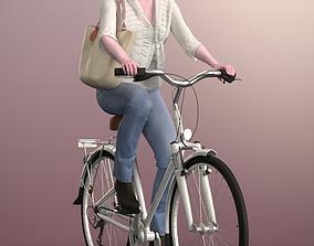 3D model Kim 20120-06 - Animated Bike Riding Woman