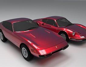 3D asset Ferrari Dino 246 GT And Ferrari 365 GTB 4 Daytona