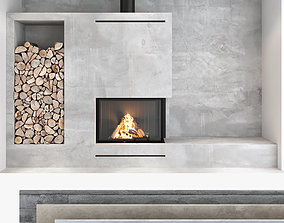 3D Fireplace and Firewood set 08
