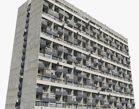 Large Khrushchyovka 3D model kazakhstan