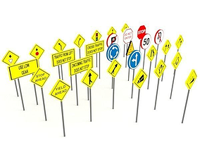Street signs - Traffic signs 3D