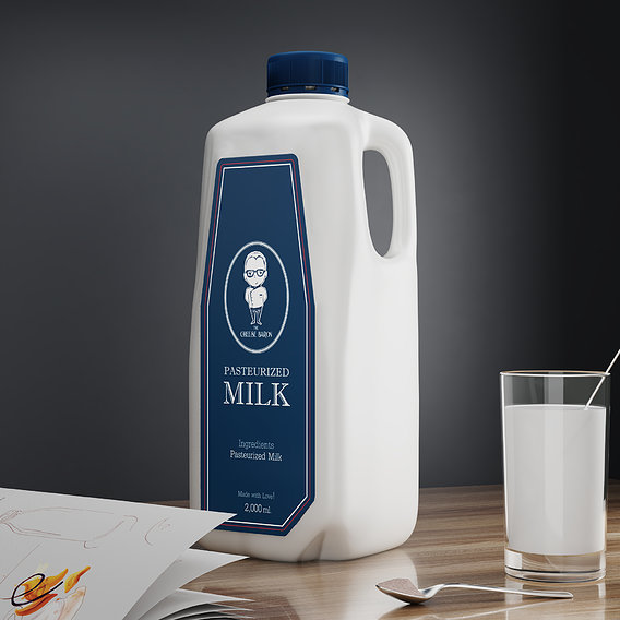 2000 ml Pasteurized Milk Bottle