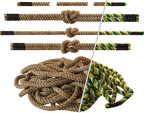 3D model VR / AR ready Rope knots 2