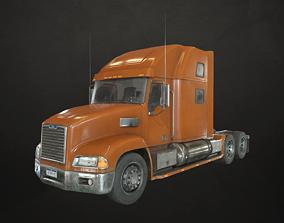 3D model Semi Truck Tractor - Orange