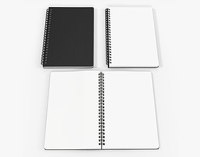 3D model Sketchbooks with spiral on side open close