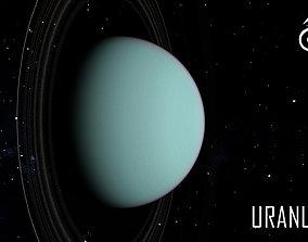 3D model animated PLANET---URANUS 2K