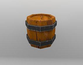 Wooden Barrel barrels 3D model game-ready
