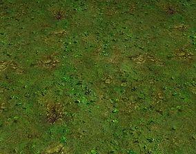 ground grass tile 44 3D