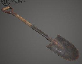 Shovel 3D model low-poly