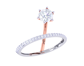 ring 3D printable model Solatire Rings