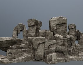 Rock Set 3D asset VR / AR ready mosy
