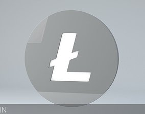 Litecoin Crypto Currency 3D Logo