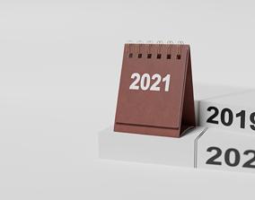 business Desk calendar 3d model free