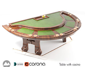 3D model Poker table Table game table with casino