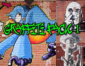 3D funny Graffiti Textures Pack