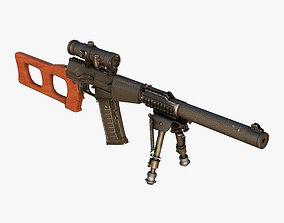 Sniper Rifle VSS Vintorez 3D model
