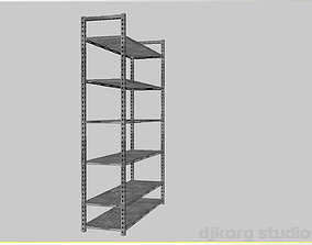 Metal Rack Shelving 3D asset