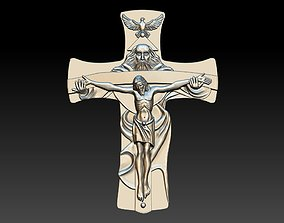 Jesus and god Cross 3D printable model