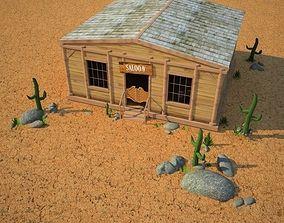 Wild West RailStation Saloon 02 Set 3D
