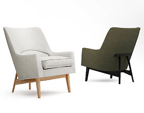 3D Fredericia A-chair A-line lounge chair