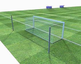 Football Pitch 3D asset