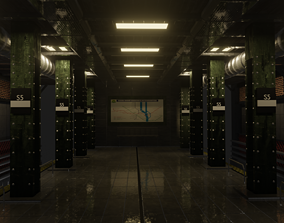 3D kiev underground trainstation CRYPT