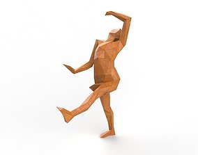 Girl Low Poly Dancing 3d Model
