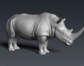 White Rhinoceros - Highpoly Sculpture 3D model