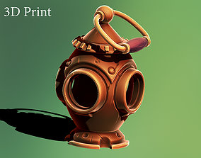 Bronze lamp 3D printable model