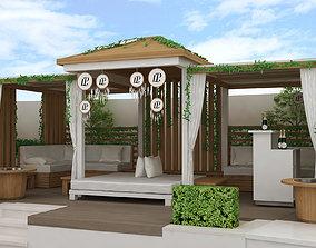 beach side Kiosk pergola design 3D