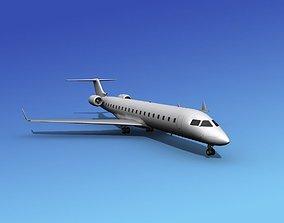 3D model Bombardier CRJ700 Unmarked 1