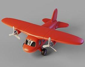 cartoon Plane 3D model low-poly