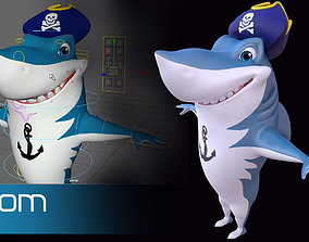 Asset - Cartoons - Animal - Shark 02 - Rig 3D model