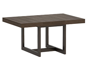 3D asset Archive Square Extension Dining Table Open 2