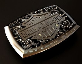3D print model Harley Davidson Silver Belt Buckle