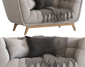 Cult Furniture Magnus 2 Seater Sofa 3D