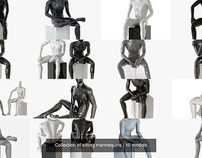 3D Collection of sitting mannequins