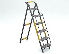 Steel Stair 3D asset