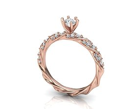 3D printable model Engagement ring spiral