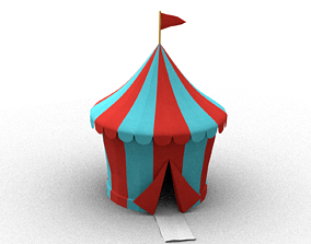 3D stylised circus tent