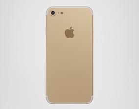 3D asset iPhone 7 - Gold