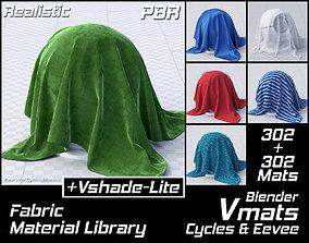 VMATS Fabric Material Library for Blender 3D asset 3