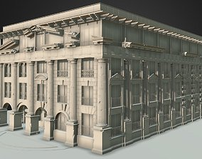 3D model club house in classical architecture street