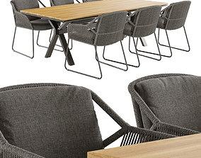 4so accor dining set 3D model