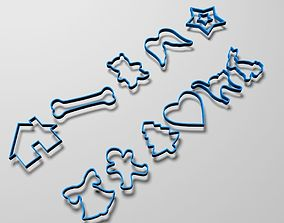 Cookie cutter pack 3D printable model hobby-diy