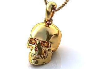 Gold Skull Pendant BP047 3D printable model