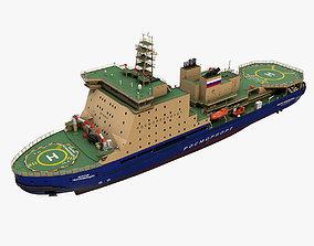 Icebreaker LK-25 Viktor Chernomyrdin 3D model