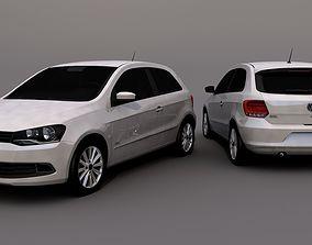 Volkswagen Gol G6 G7 3D model rigged