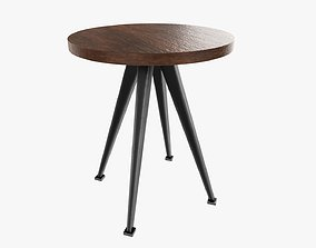 Coffee table round 01 3D model